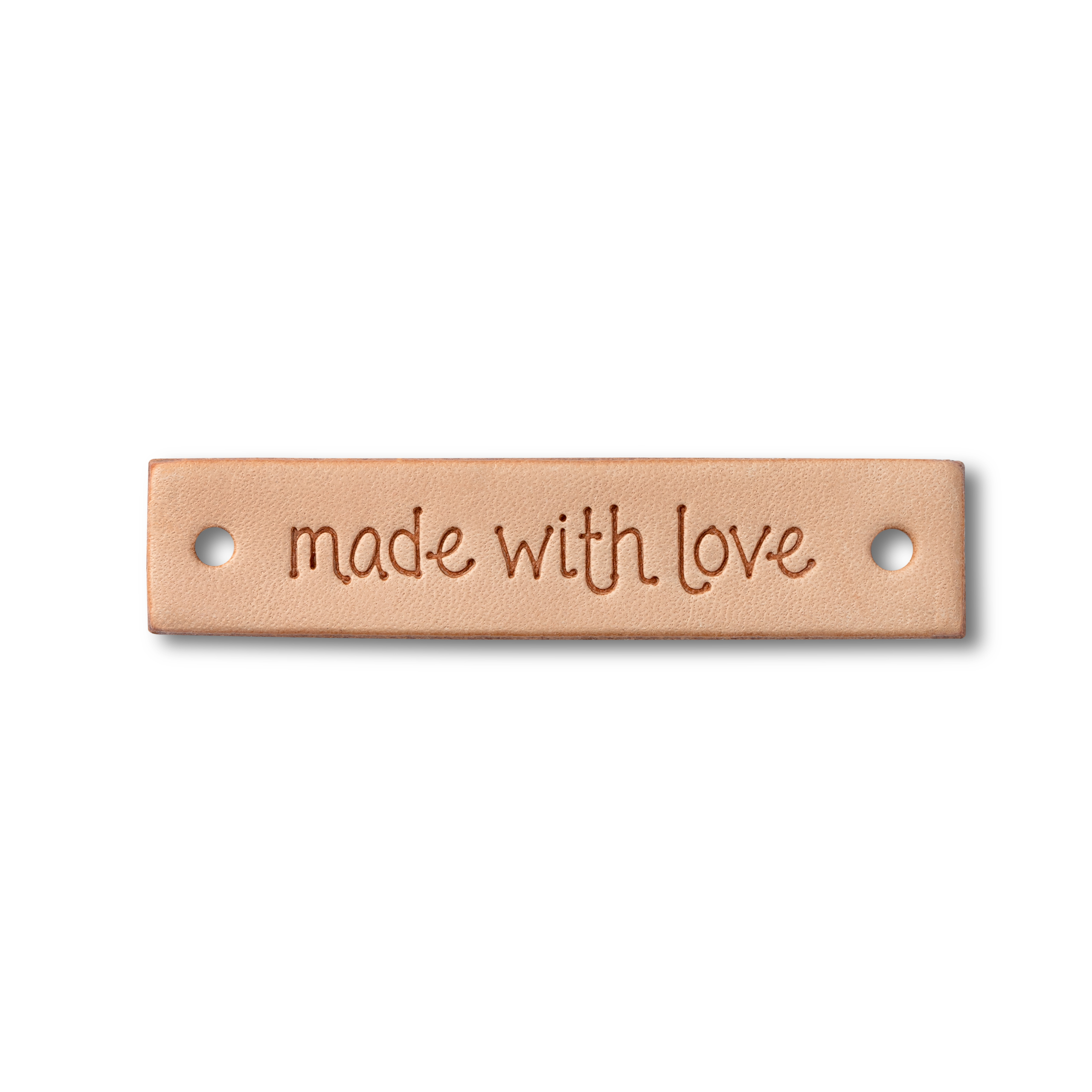 Made with love -merkki nahka 60x13 mm
