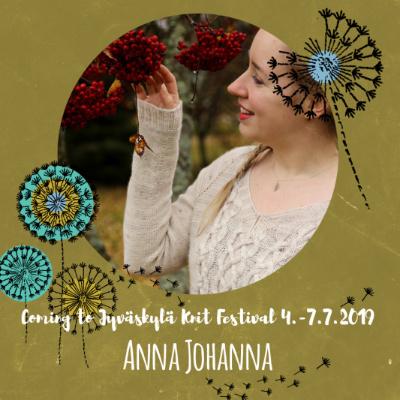 La 6.7.19 klo 14-16 ANNA JOHANNA: Intarsia pyörönä