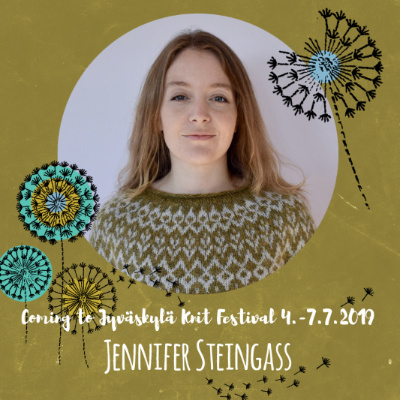 Su 7.7.19 klo 10-18 JENNIFER STEINGASS: Design Your Own Colorwork Yoke Sweater