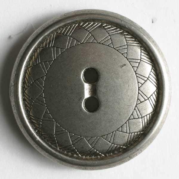 Metallinappi 18 mm mattahopea