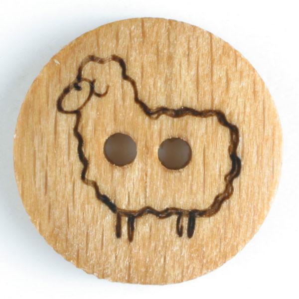 Puunappi Lammas 18mm ruskea  - Art.-Nr.: 241179