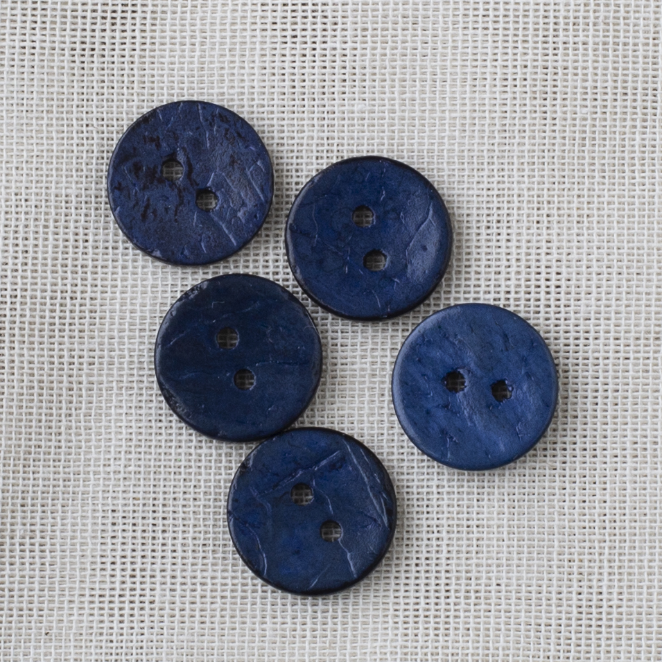 Coconut Button 18mm 02 navy