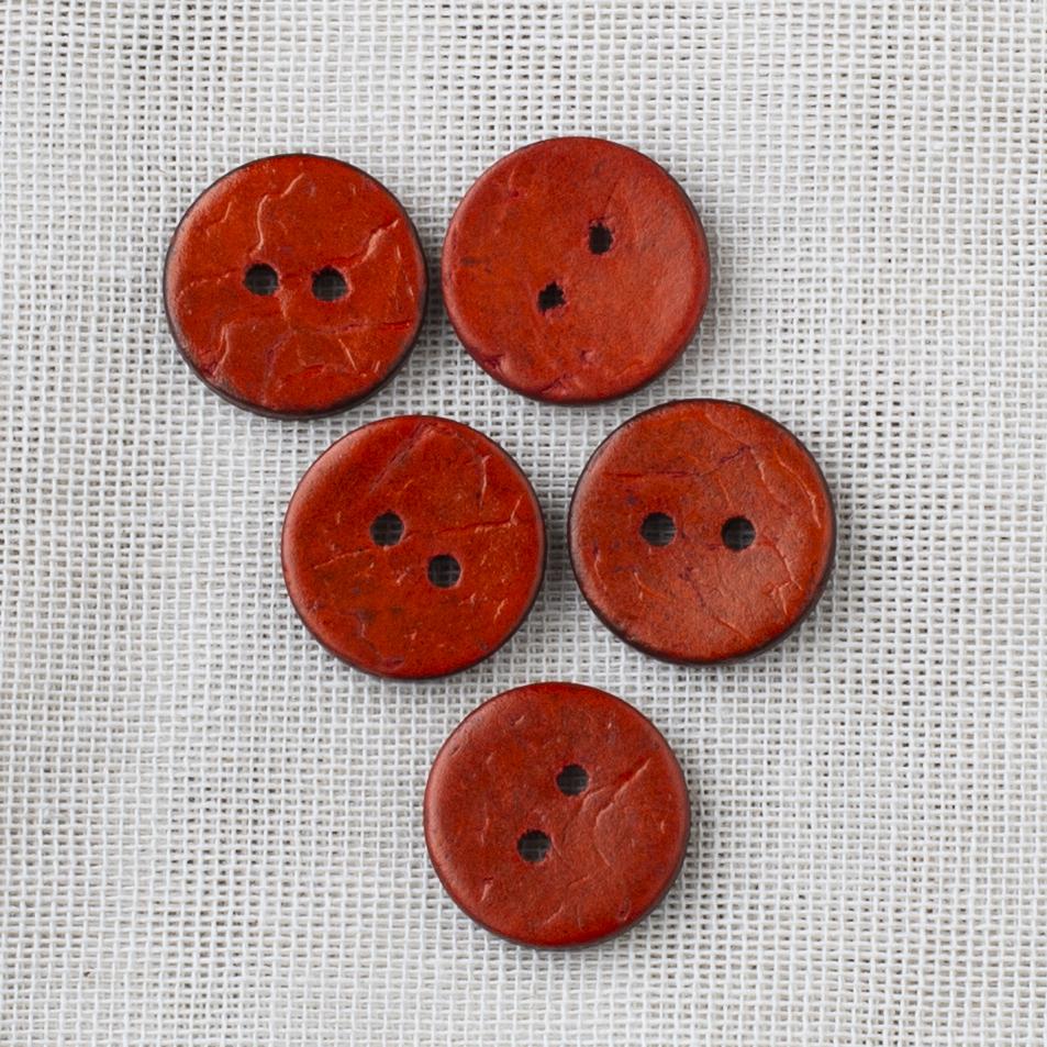 Coconut Button 18mm 07 orange