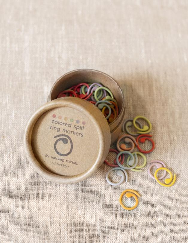 Cocoknits Colored Split Ring Markers - avonaiset silmukkamerkit
