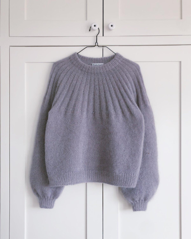 Sunday Sweater - MOHAIR EDITION by PetiteKnit -neuleohje EN