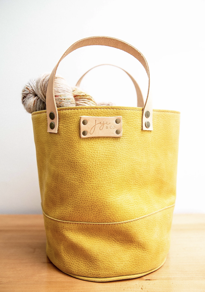 Joji & Co. PAMPA Bucket Bag mustard