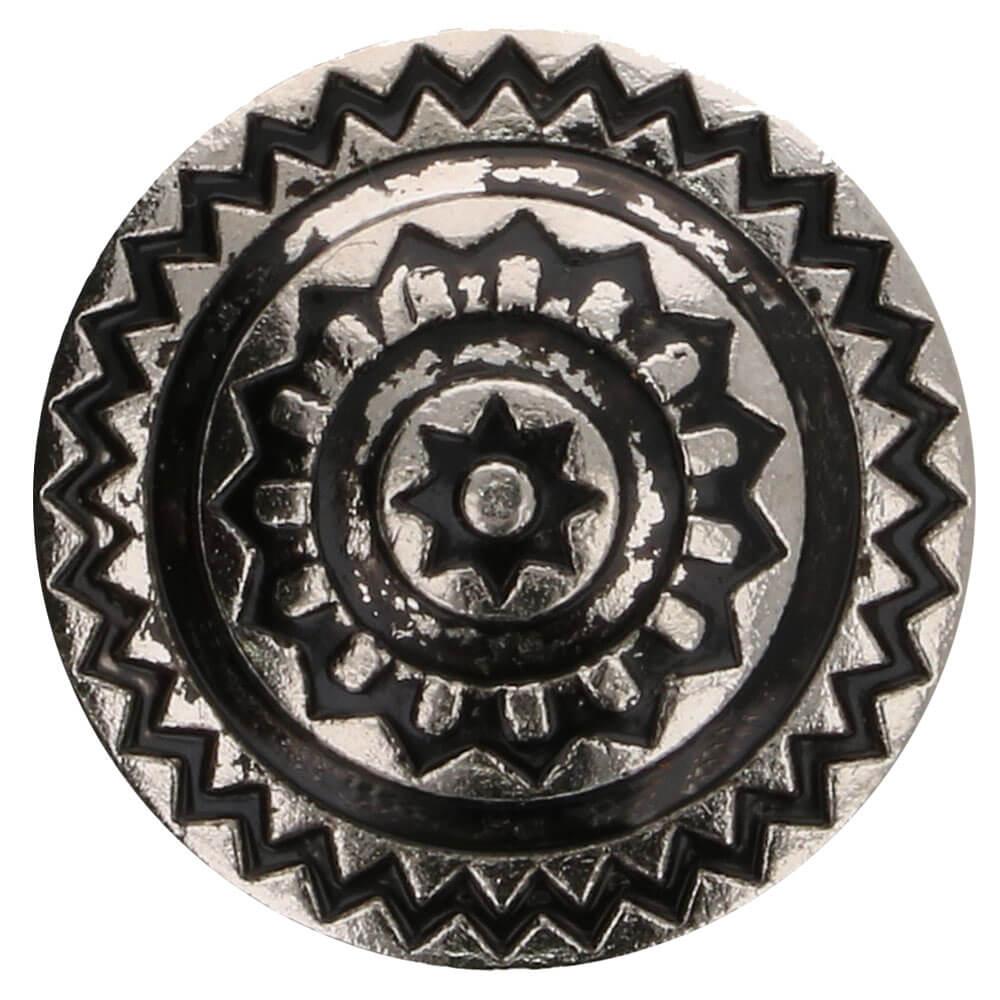 Islantilaistyylinen metallinappi 15 mm antiikkitina