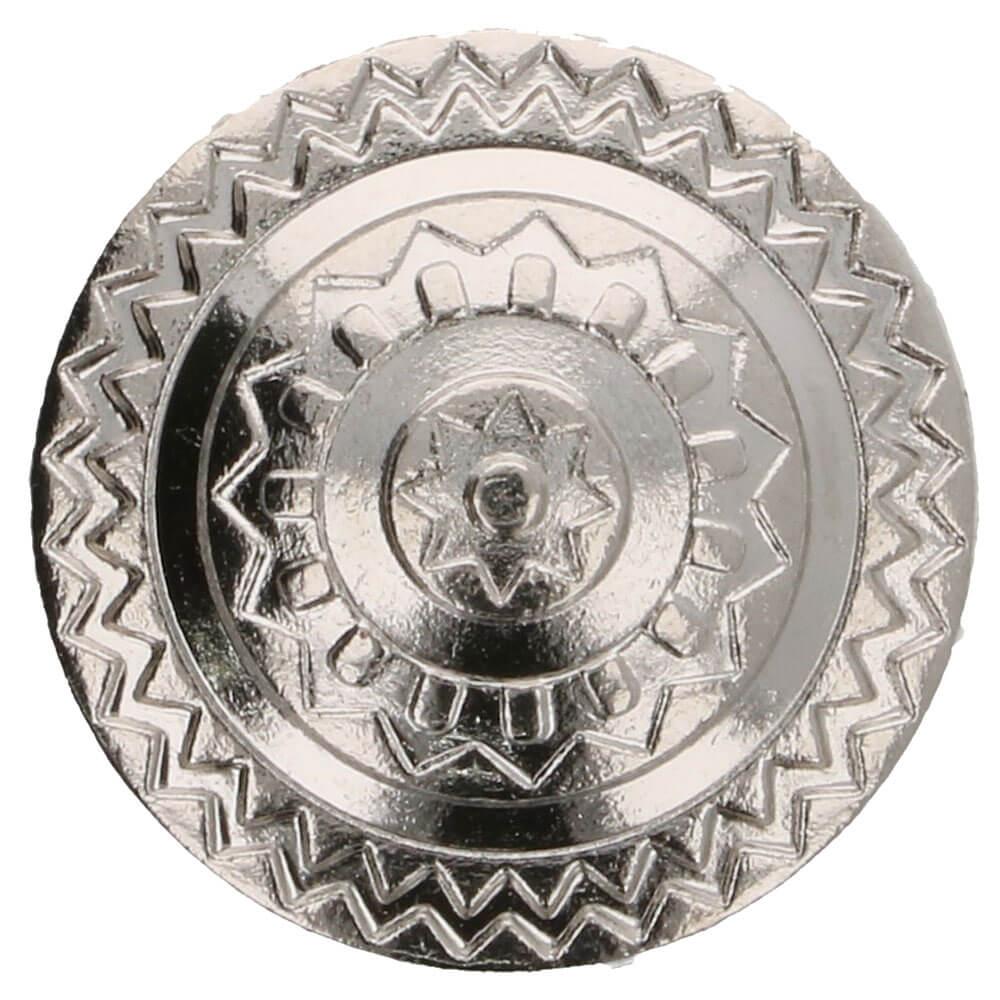 Islantilaistyylinen metallinappi 15 mm hopea