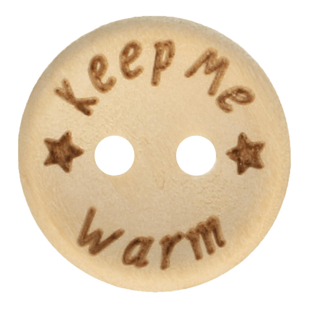 "Puunappi ""Keep me warm"" 15 mm"