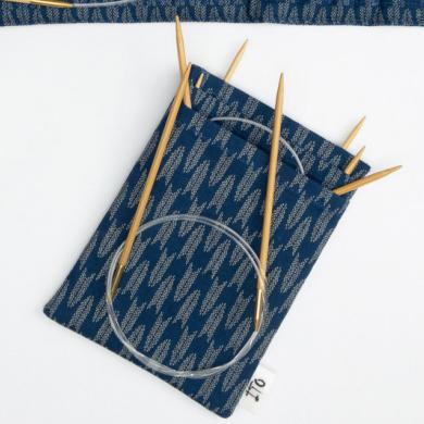 ITO Fabric Needle Case pyöröpuikoille, sininen