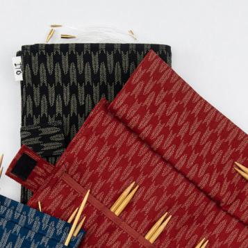 ITO Fabric Needle Case 12,5 cm puikonpäille, punainen