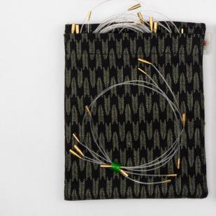 ITO Fabric Needle Case 12,5 cm puikonpäille, musta