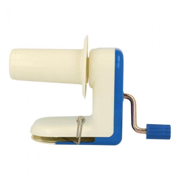 Opry Yarn Ball Winder, blue-white plastic