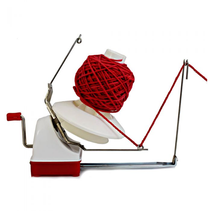 Opry Yarn Ball Winder, Plastic red-white LARGE