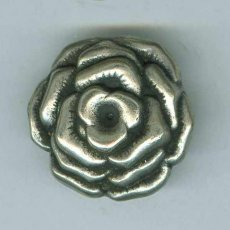 Metallinen kantanappi ruusu