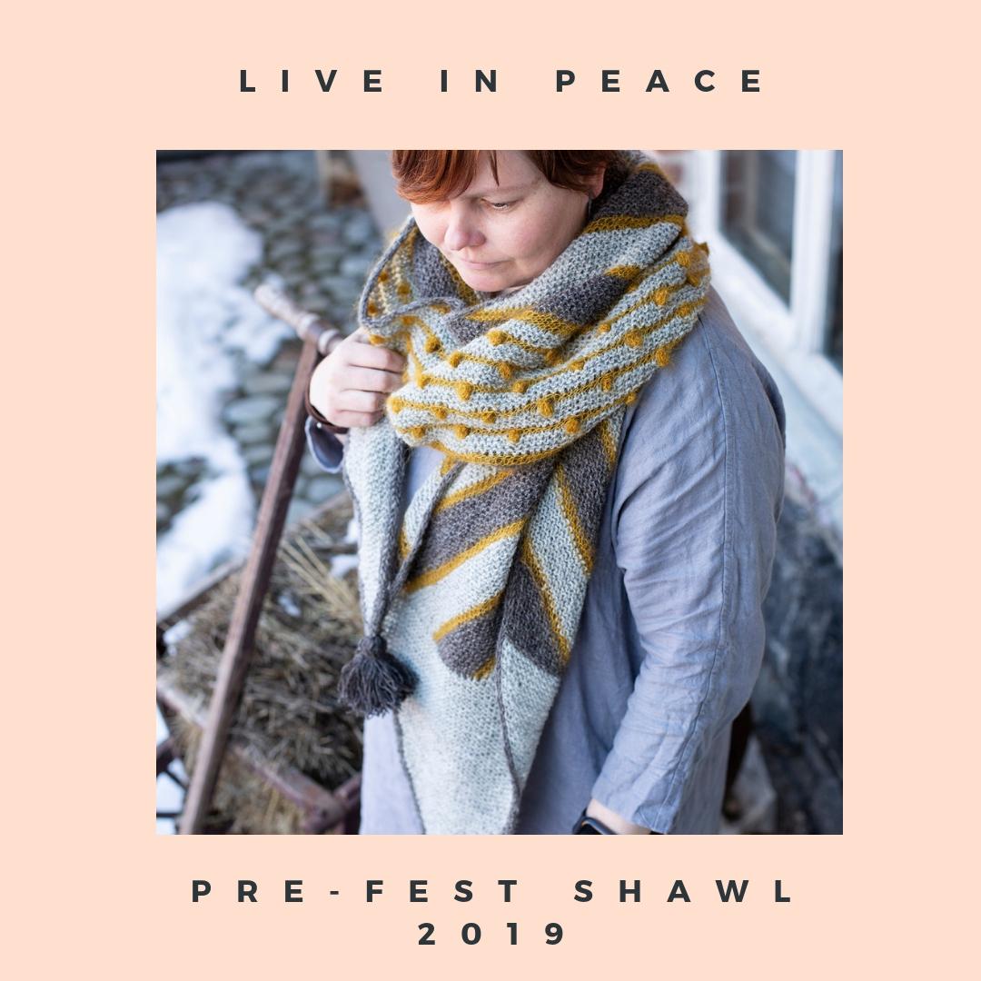Live in Peace -huivin neuleohje