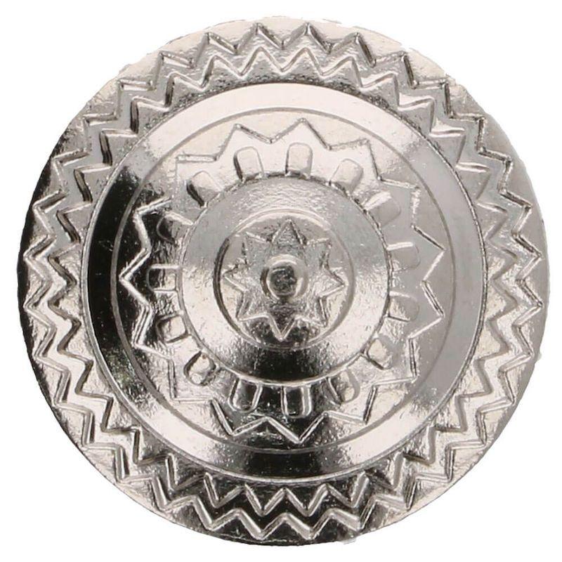Islantilaistyylinen metallinappi 17,5mm hopea