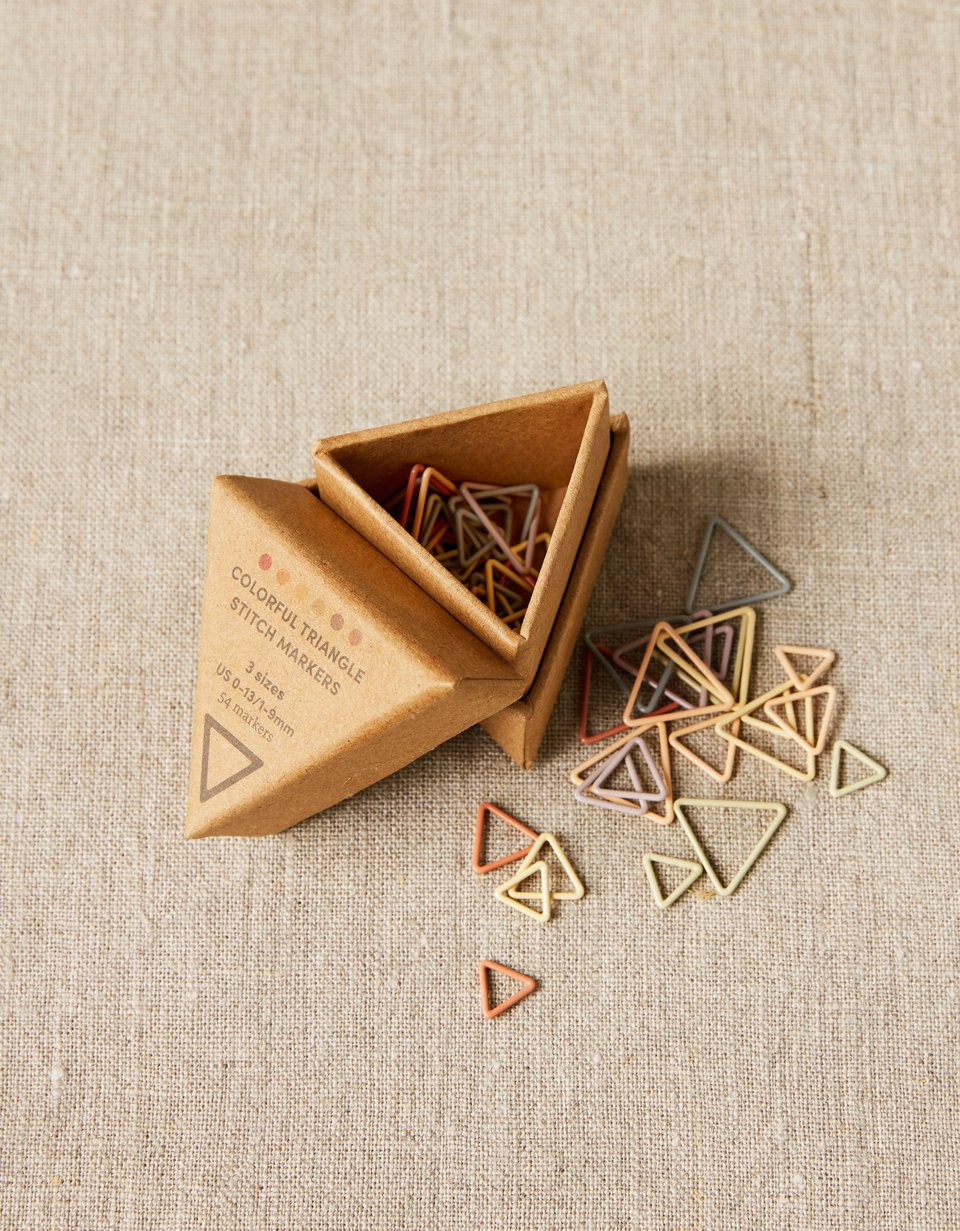 Cocoknits Triangle Stitch Markers Earth Stones silmukkamerkit