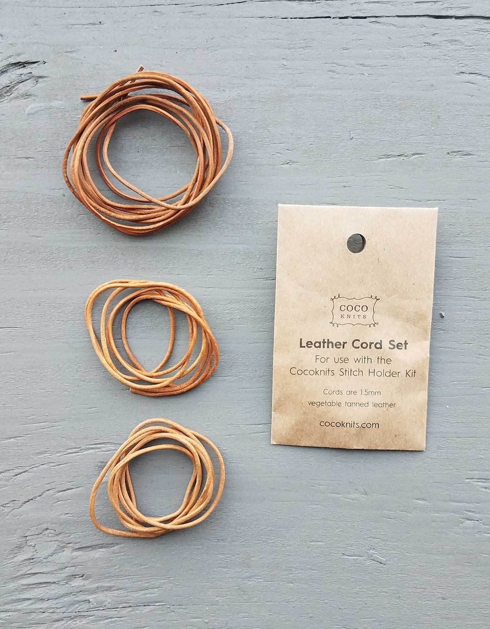 Cocoknits Leather Cord Set - silmukanpidikesetti