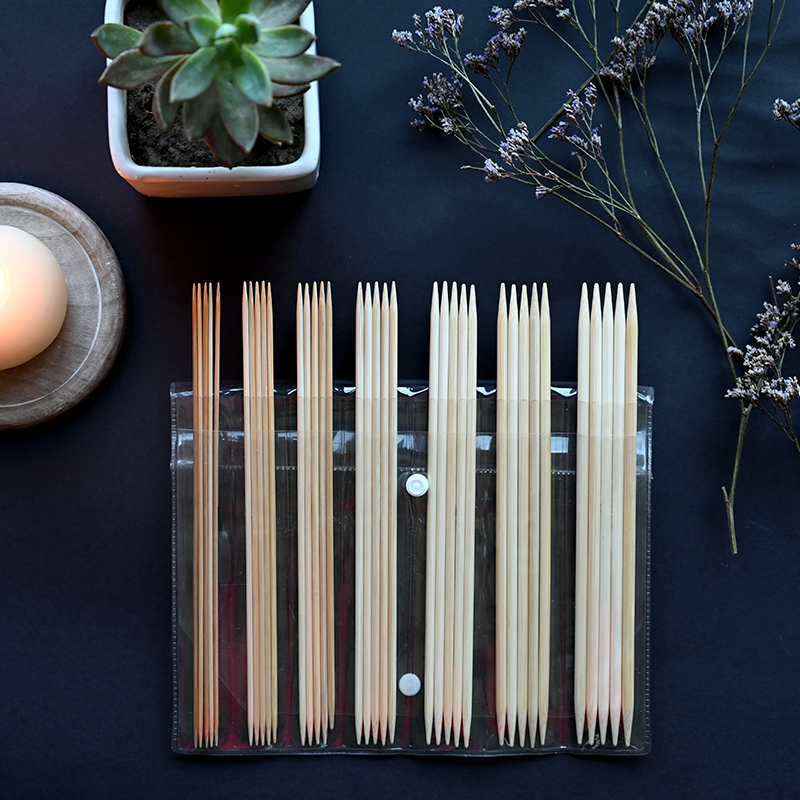 Knit Pro Bamboo Sukkapuikkosetti 15cm