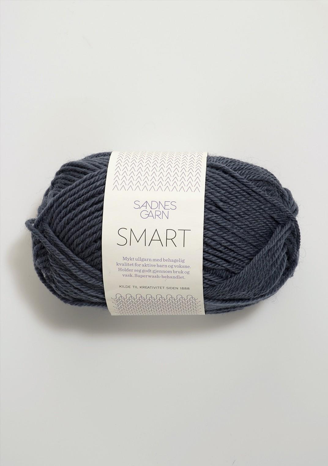 Sandnes Garn Smart 6162 tumma siniharmaa Poistuva väri
