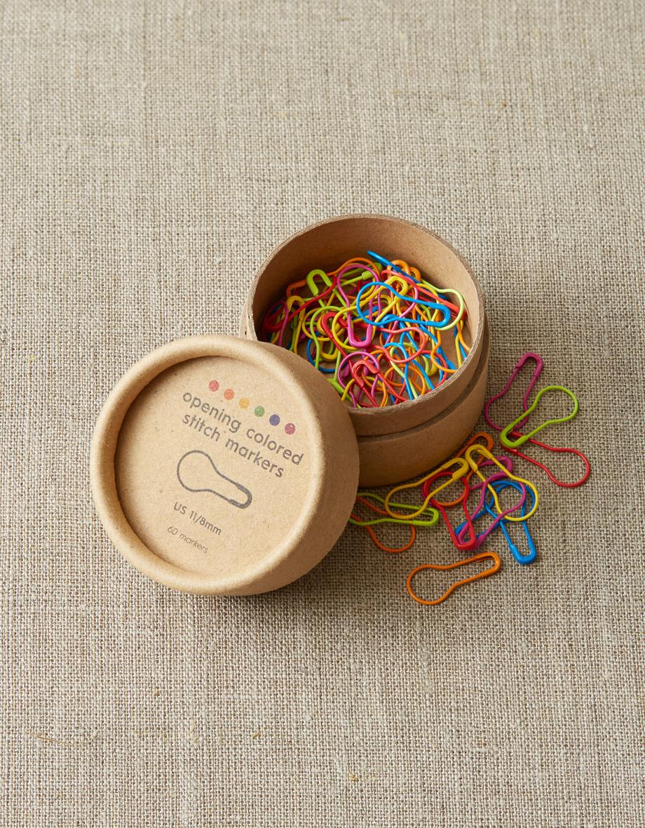 Cocoknits Opening Colored Stitch Markers - Värikkäät avattavat silmukkamerkit