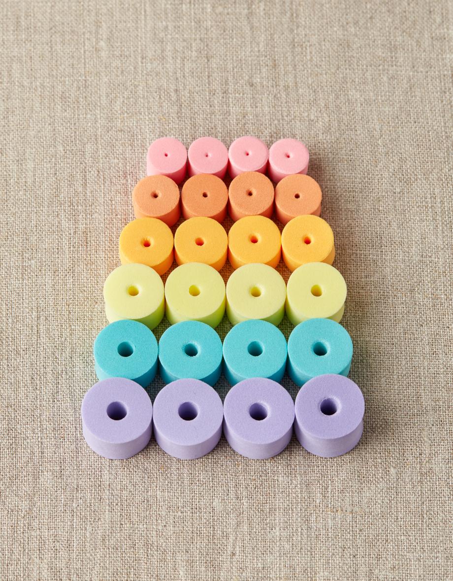 Cocoknits Stitch Stoppers - Värikkäät puikkostopparit