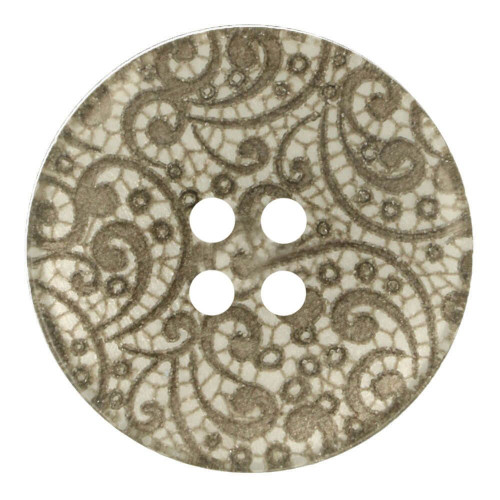 Vintage Lace Button 15mm