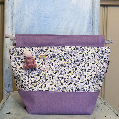Nova Melina Knitting bag 2. Pollen Grey