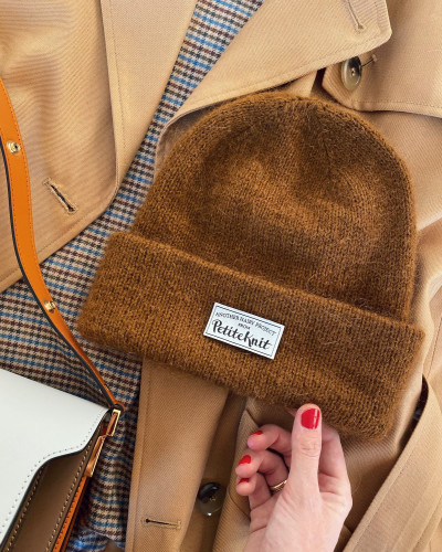 The Oslo Hat Mohair Edition Neuleohje ja langat red squirrel