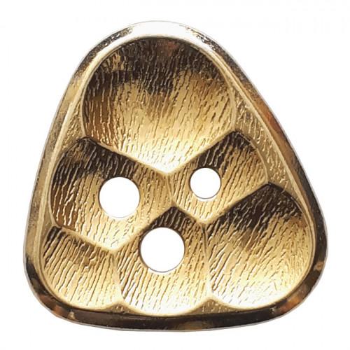 Metallinappi kennokuvio 3 reikää 20 mm kulta - Art.-Nr.: 370831