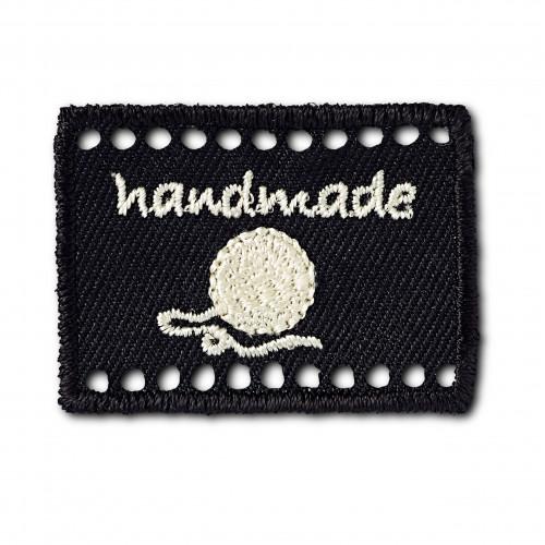 Handmade-merkki musta 40x30 mm