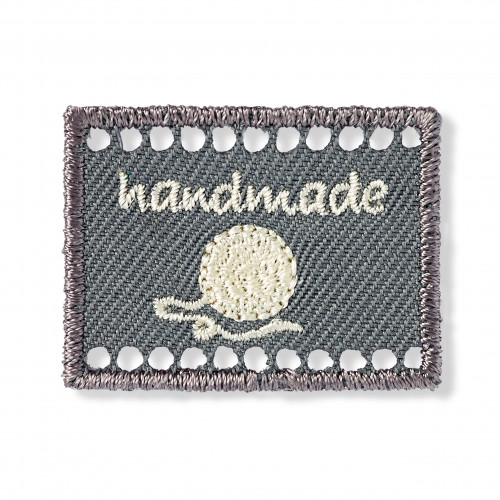 Handmade Tag Grey 40x30mm