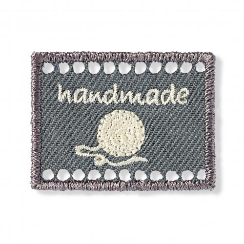 Handmade-merkki harmaanruskea 40x30 mm