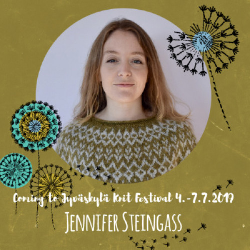 Pe 5.7.19 klo 10-13 JENNIFER STEINGASS: Stranded Colorwork in the Round