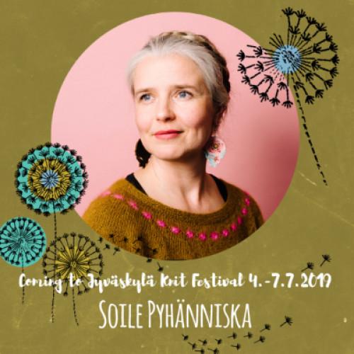 Sat July 6, 14-17 SOILE PYHÄNNISKA: Kirjoneulekurssi (FI)