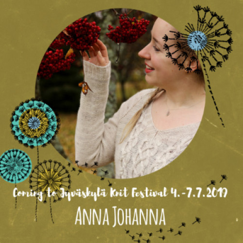 Sun July 7, 10-13 ANNA JOHANNA: Neuleiden Sarjoittaminen (FI)