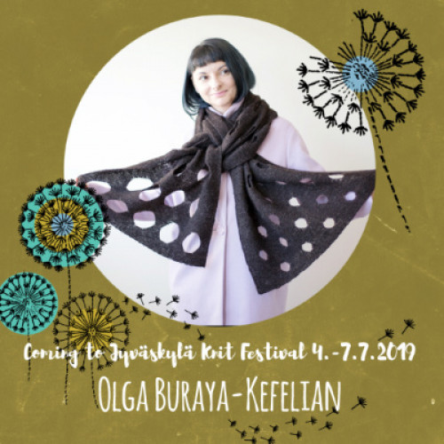 Su 7.7.19 klo 14-17 OLGA BURAYA-KEFELIAN: Modular Knitting with Negative Space