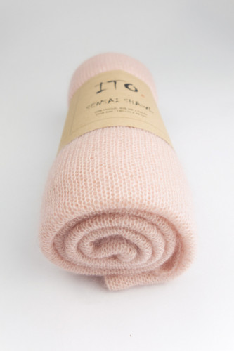 ITO Sensai Silk Mohair Shawl Pale Blush
