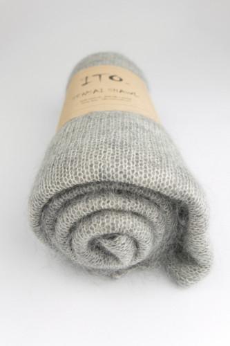 ITO Sensai -silkkimohairhuivi Top Light Gray