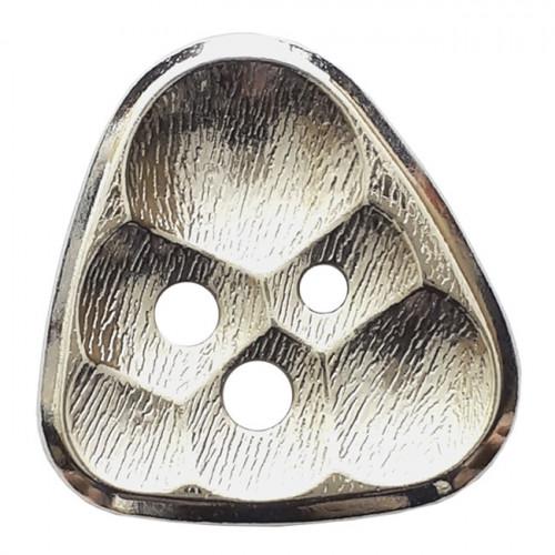 Metallinappi kennokuvio 3 reikää 20 mm hopea- Art.-Nr.: 341272
