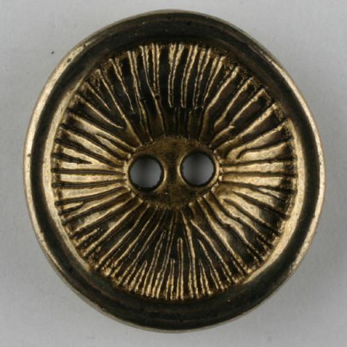 Metallinappi18 mm antiikkikulta