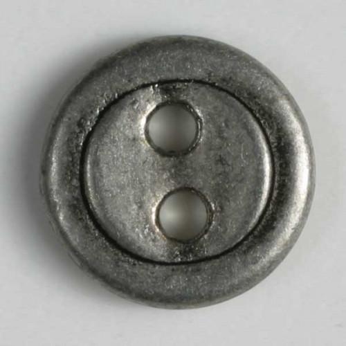 Metallinappi 15mm antiikkitina- Art.-Nr.: 241074