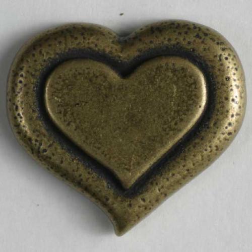 Metallinappi 15mm antiikkitina - Art.-Nr.: 261043