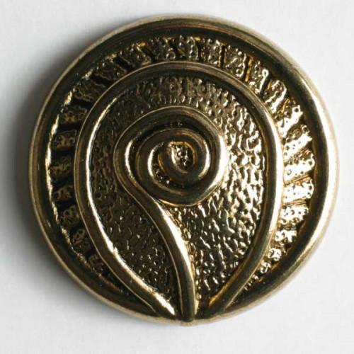 Metallinappi 18 mm antiikkikulta