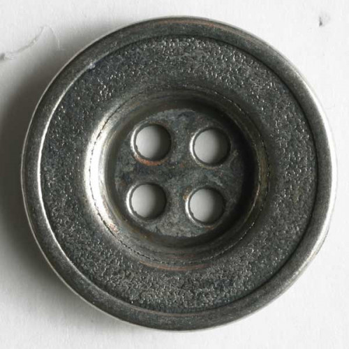Full metal button 15mm Color: antique silver - Art.-Nr.: 190816