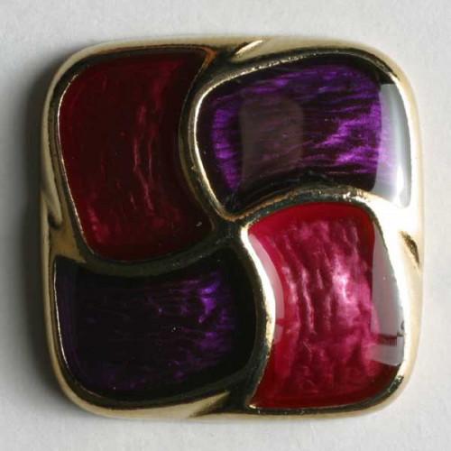 Metallinappi emaloitu 18mm lila - Art.-Nr.: 370129