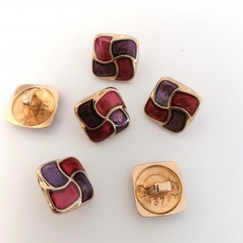 Metallinappi emaloitu 18 mm lila