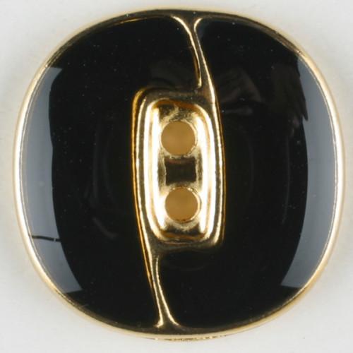Metallinappi emaloitu 23 mm musta - Art.-Nr.: 350116