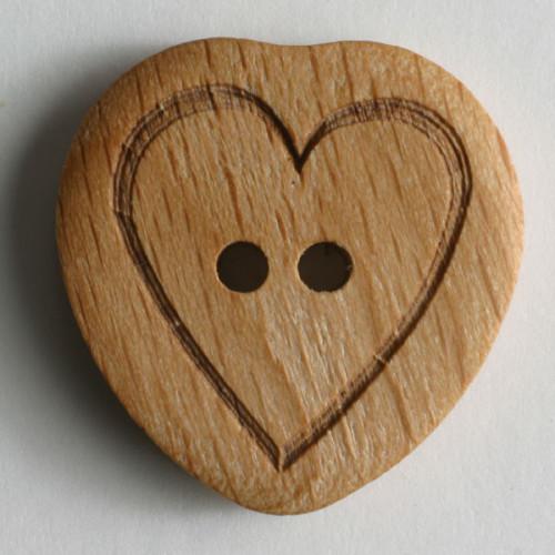 Puunappi Sydän 23 mm